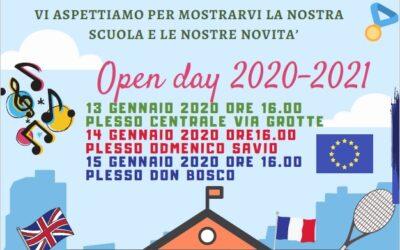 Open Day dal 13 al 15 gennaio 2020